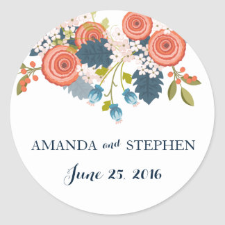 Wild Garden Wedding Personalized Favor Stickers