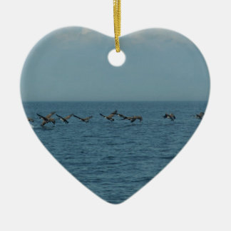 Wild Geese Ceramic Heart Decoration