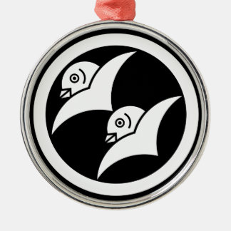 Wild geese for the Masuyama 2 Silver-Colored Round Decoration