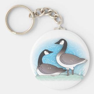 wild geese key ring