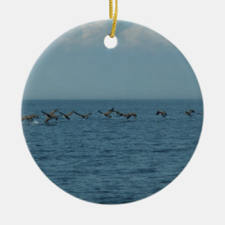 Wild Geese Round Ceramic Decoration