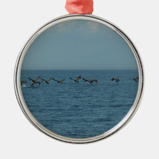 Wild Geese Silver-Colored Round Decoration