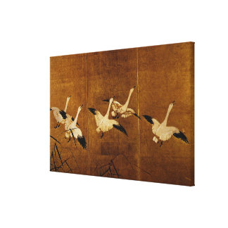 Wild Geese Stretched Canvas Prints