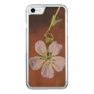 Wild Geranium Carved iPhone 8/7 Case