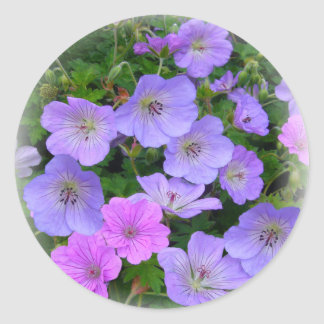 WILD GERANIUM ~ Envelope Sealer/Sticker Classic Round Sticker