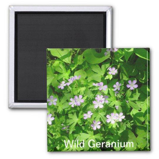 Wild Geranium Magnet