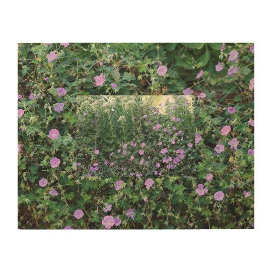 Wild Geraniums X 2 Wood Print