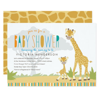 Wild Giraffe Baby Shower Invite