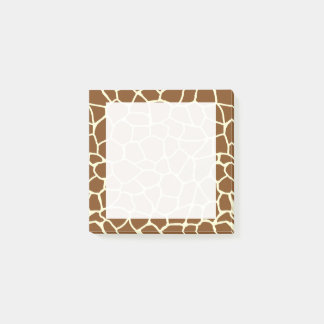Wild Giraffe Pattern Animal Print Post-it Notes