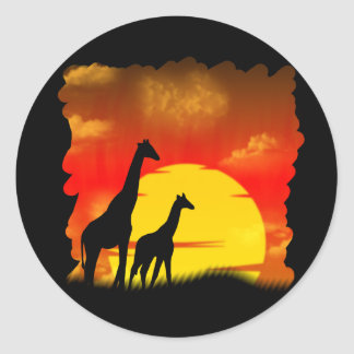 Wild Giraffe Sticker