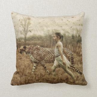 Wild Girl by Shawna Mac Throw Cushion