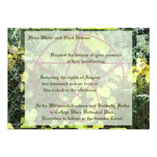 Handfasting Invitation: Pagan Wedding Cards, Pagan Wedding Card Templates