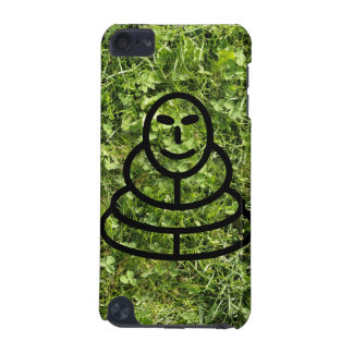 Wild grass and clover texture with meditation man iPod touch (5th generation) cover