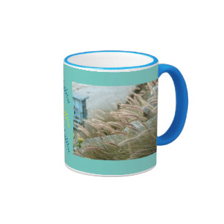 Wild grasses on Malibu beach California Ringer Mug