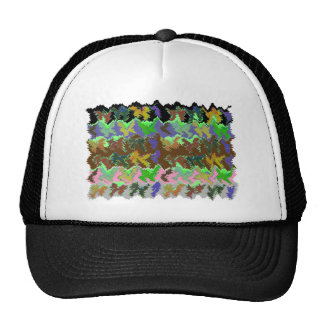 Wild Green Jungle Mesh Hats
