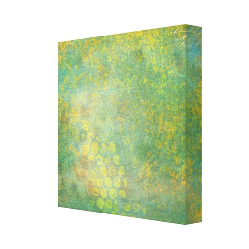 Wild Green Spots Grungy Cool Gallery Wrap Canvas