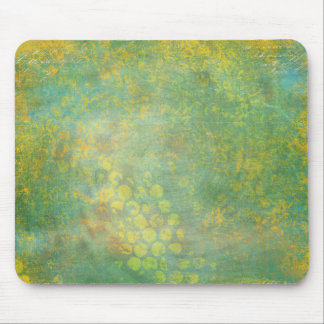 Wild Green Spots Grungy Cool Mouse Pad