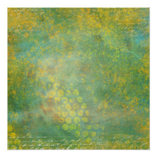 Wild Green Spots Grungy Cool Perfect Poster