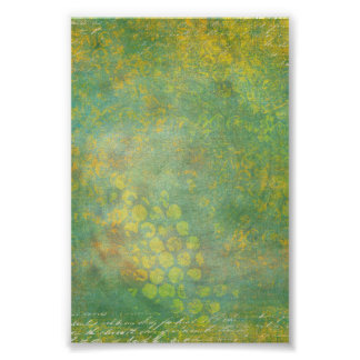 Wild Green Spots Grungy Cool Poster