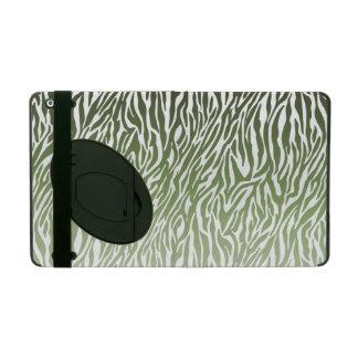 Wild Green Zebra Print iPad Folio Case