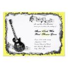 Wild Guitar Yellow Music Wedding Invitation
