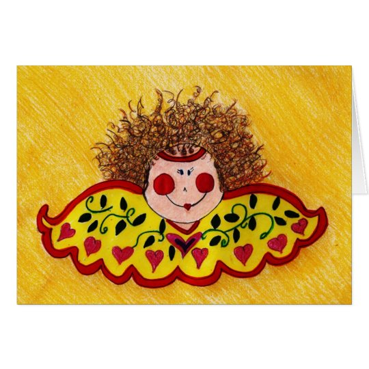 wild hair angel card