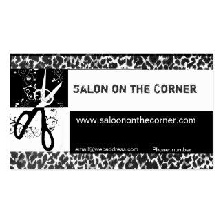 Wild Hair Cutting Scissors Leopard Print Salon Pack Of Standard Business Cards