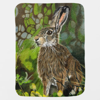 Wild Hare Hand Drawn Blanket