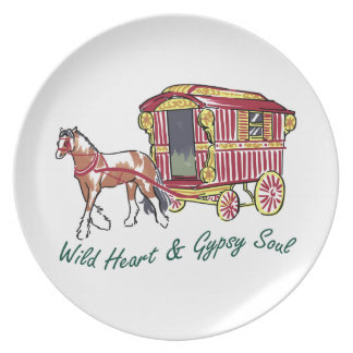 WILD HEART GYPSY SOUL PARTY PLATE