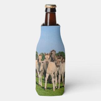 Wild Herd Dulmen Horses with Foals  Bottle-Jacket