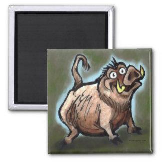 Wild Hog Square Magnet