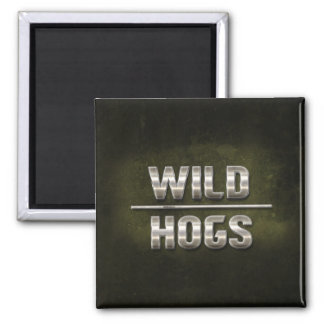 Wild Hogs Metal Text Magnets