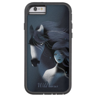 Wild Horse and a Beautiful Girl Tough Xtreme iPhone 6 Case
