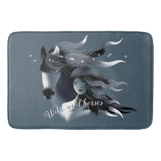 Wild Horse and a Girl Bath Mat