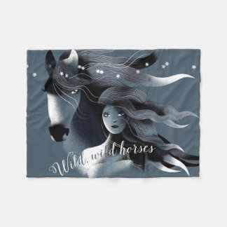 Wild Horse and a Girl Fleece Blanket