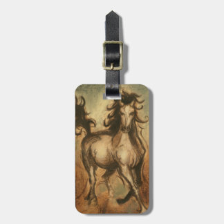 Wild Horse and Warm Colors Luggage Tag
