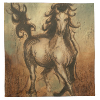 Wild Horse and Warm Colors Napkin