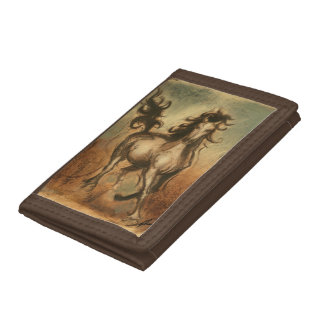 Wild Horse and Warm Colors Trifold Wallet