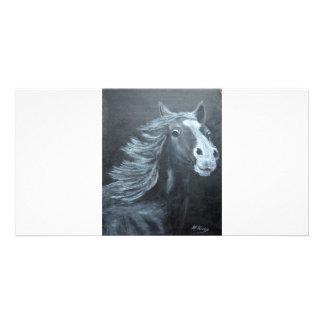 wild horse customized photo card