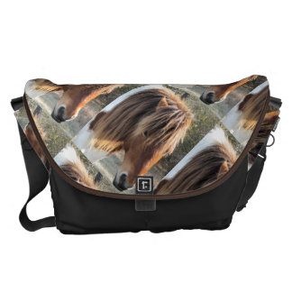 Wild horse head messenger bag