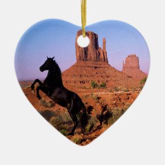 Wild Horse Monument Valley Ceramic Heart Decoration