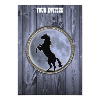 "Wild Horse Moon 5"" X 7"" Invitation Card"