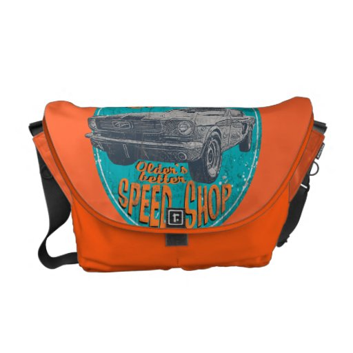 Wild horse muscle cars messenger bag