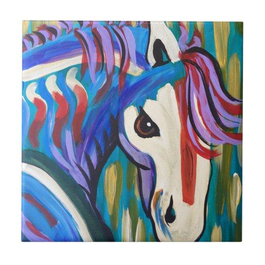 Wild Horse Small Square Tile