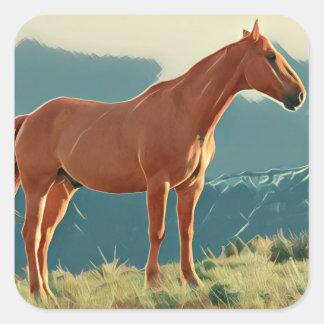 Wild Horse Square Sticker