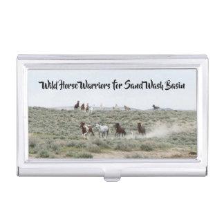Wild Horse Warriors for Sand Wash Basin Business Card Holder