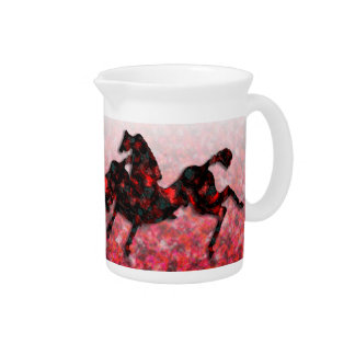 Wild Horses #21 Ruby and Ashes Beverage Pitcher