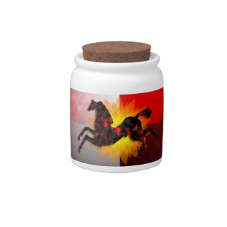 Wild Horses #21 Ruby and Ashes Candy Jar