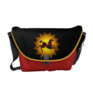 Wild Horses #21 Ruby and Ashes Messenger Bags