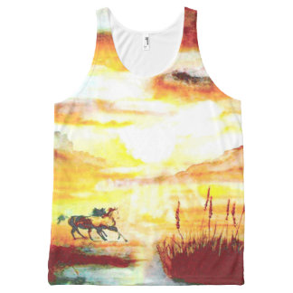 Wild Horses. All-Over Print Tank Top